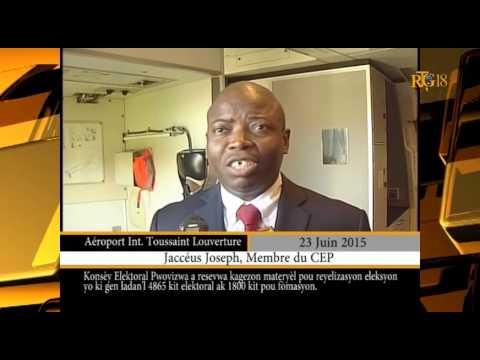 Haïti / Élection.- Le CEP reçoit des matériels électoraux.