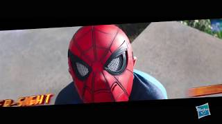 Now you can pretend to have Spider-Man powers with Spider-Man Homecoming hero gear. Spider-sight mask, rapid reload blaster, and web wing set each