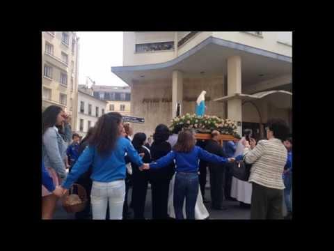Procession mariale paroisse Notre Dame du Liban cathédrale maronite rue d'Ulm à Paris