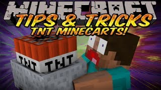 Minecraft Tips And Tricks - TnT Minecart Nuke for Survival Mode&Creative Mode!