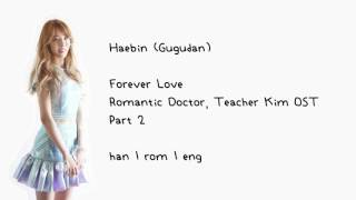 Haebin (Gugudan) - Forever Love (Romantic Doctor, Teacher Kim OST Part 2) [han | rom | eng] LYRICS