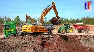 2x LIEBHERR R 926, CATERPILLAR 336E LN, Dump Trucks & Tractors / Sattelkipper & Traktoren, Korb, Germany, 12.04.2017.