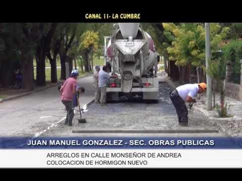 NOTA A JUAN MANUEL GONZALEZ Y A UN VECINO: OBRA MUNICIPAL, REPARACION DE LA CALLE MONSEÑOR DE ANDREA