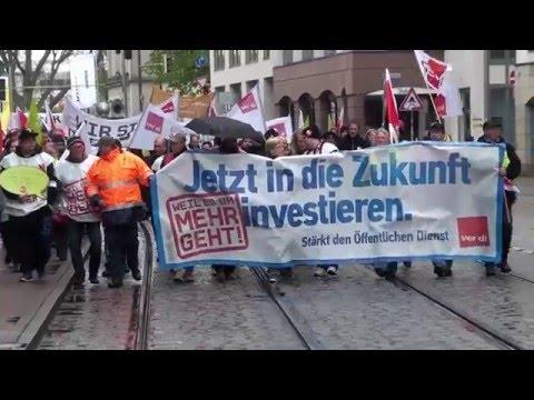 Warnstreik des öffentlichen Dienstes in Bremen