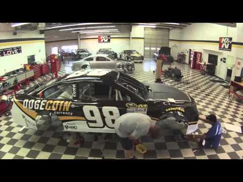 Рождение DogeCoin Wrap NASCAR for Josh Wise #98