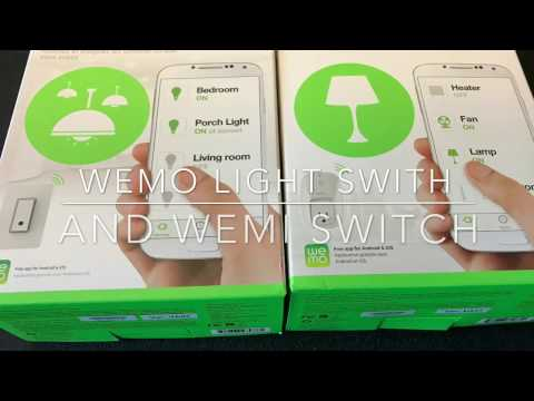 Home Automation using Belkin Wemo Light Switches - Review & Demonstration