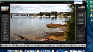 Part 2 of a complete tutorial on making a timelapse video with an DSLR. In this clip: post-production - how to put your still images together to form a timelapse video using Quick Time Player 7.http://www.sydneyportraits.com.auhttp://www.greenwoodmedia.com.auHi this is Tom Greenwood from sydneyportraits.com.au.Welcome to part two of my timelapse tutorial. In the first clip, which you can see by clicking here, we looked at how to shoot a timelapse. In this clip we're looking at processing those images - turning them into an actual timelapse clip.Now to do this we're going to use two pieces of software. First you need some batch photo editing software. For this I use Lightroom, in this case Lightroom 4 – I probably should update but Lightroom 4 works pretty well for me. We'll use QuickTime player 7. Now that's not the free QuickTime player that comes with a Mac. I think I paid about $30, something like that, for QuickTime player 7. So I have saved all the photos that we could took in the timelapse session in this folder here. As you can see these are RAW files. So the first thing to do is import those photos into Lightroom. Okay so we've imported our files into Lightroom. The first thing we going to do is rename the files. As you can see they've just got generic numbers ING 7822 etc, and as a general rule it's always better to give your photo files specific names. They're  much easier for your computer to locate at a later date if it needs to.I'm just going to select all files, I'm going to library, renamed photos and the new name is already here: 'Iron Cove' – that's the name of the place -- timelapse 'TL' and start number one. Okay so very quickly all the files renamed.So next let's take a look at the first image. We want to see if it can be enhanced in any way. The basic exposure is fine but maybe we can brighten it up, enhance the colour, give it a bit more contrast. So I'm going to go to 'D' for develop. So let's raise the exposure just a tiny bit, raise the lights a little bit, maybe darken the blacks, let's reduce the shadows a tiny bit, raise the highlights slightly. And I think we can give it a bit more than a bit more saturation.Now the image corrections are we making to this shot can be applied to all the other shots. And we can even make some quite specific changes that again will apply through the whole timelapse.So in this case I'm going to darkened those clouds, make them a little bit more threatening looking. So I'm going to the brush tool and I'll reduce the exposure a little bit. Just darken the clouds a bit. So just darkening the clouds, making the sky a bit more foreboding. We don't want anything too severe but I think that looks good.So now we're going to apply the changes we made to this image to all the other images. Altogether there's 152.S o the way we do that is: we want to select all of them and then go to 'sync'  and let's just check the settings. We've got exposure, basic tone, split toning, spot removal we don't need, crop we don't need. Ah, local adjustments – now we did make some local adjustments with the dark clouds so we want to make sure this is ticked. Then we click 'synchronise' and away it will go.Now let's just check the last image, if we scroll along here. That's actually looking a bit on the dark side but that may not matter because sometimes it's good to get a flow of light to dark during the course of the timelapse. So let's see how that pans out.We need to bear in mind if we simply convert all these raw files to full-size JPEGs we'll end up with a clip which is huge – it's going to be in the gigabytes and I guarantee your computer won't be fast enough to actually play it.So we need to make some decisions about the size of each file when we convert to it. And we also need to think about the format of the final timelapse clip.Generally when I make a video I stick to the standard 16 x 9 pixel ratio. This is the format used by Youtube – it's really the standard for online video. Within that format we've got a number of different sizes and this is where you need to decide what you're going to do with your timelapse.Are you going to put it online? Do you just want to play on your computer? I would suggest if your computer is not very fast, not very powerful maybe go for SD - standard definition. So at the low end we have 360, that means 360 pixels height and 640 in width, and at the other end we have full HD - high definition – 1080, which is 1920 across and 1080 down.I generally go for full HD so that's what we're going to apply here.