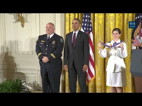 President Obama Hosts a Medal of Valor Ceremony