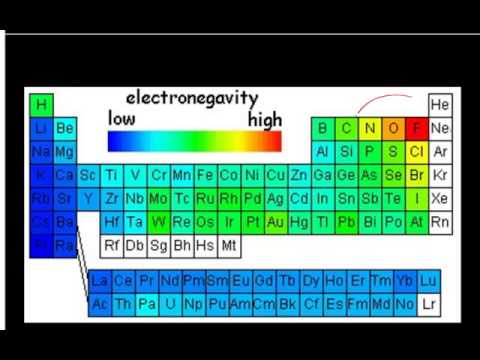 Electronegativity - Short description of degree of polarity of a bond based on difference in electronegativity values.