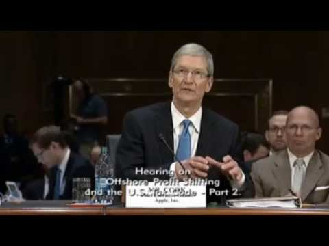 Apple CEO - A Senate subcommittee questions Apple CEO Tim Cook about how Apple has apparently legally avoided paying billions of dollars in taxes to the US government by...