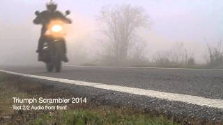 6. Triumph Scrambler 2014 bafflectomy real sound