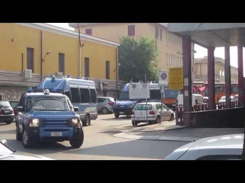 Ultras Curva Sud Milan arrivano a Verona
