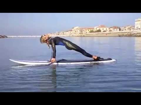 YOGA & PiLATES on SUP - Surf Board Fitness -Stand up Paddling