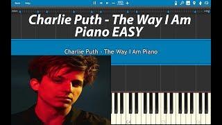 Video The Way I Am Charlie Puth Piano Tutorial  (EASY) MP3, 3GP, MP4, WEBM, AVI, FLV Juni 2018