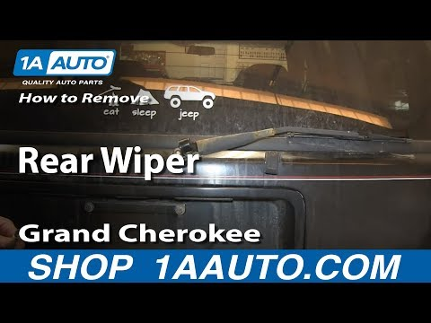 How To Remove Replace Rear Wiper Arm 1994-98 Jeep Grand Cherokee