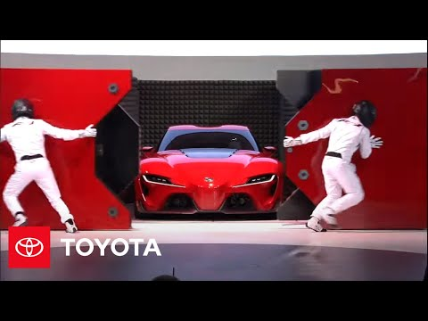 TOYOTA CONCEPT CAR - Calty Design Research President Kevin Hunter introduces the Toyota FT-1 sports car concept at the North American International Auto Show in Detroit, Jan. 13,...
