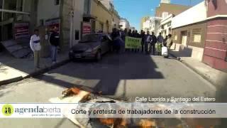 Protesta de trabajadores de la construcción