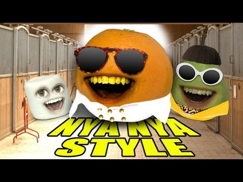 realannoyingorange - Gangnam Style? No way. Orange goes NYA NYA style. DOWNLOAD MP3: http://bit.ly/OrangeNyaNyaStyle MERCH: AO TOYS! http://bit.ly/AOToys T-SHIRTS: http://bit.ly/...