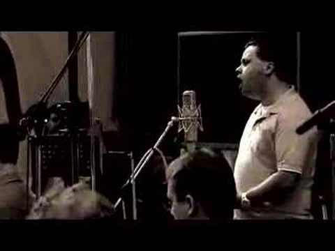 Paul Potts grabando su CD