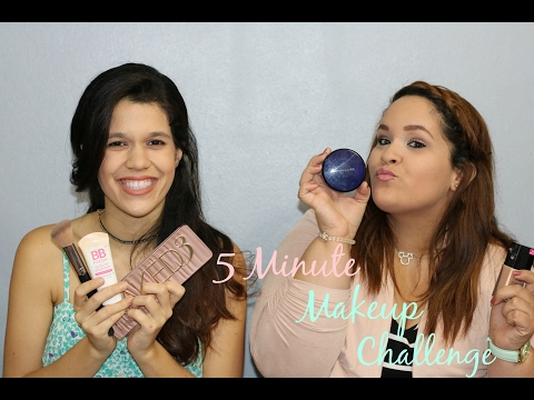 5 Minute Makeup Challenge with Nydita | Nicole Moure (видео)