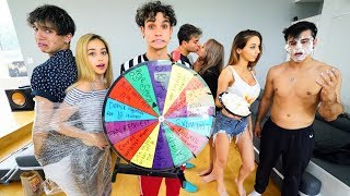 Spin The MYSTERY Wheel Challenge w/ COUPLES!