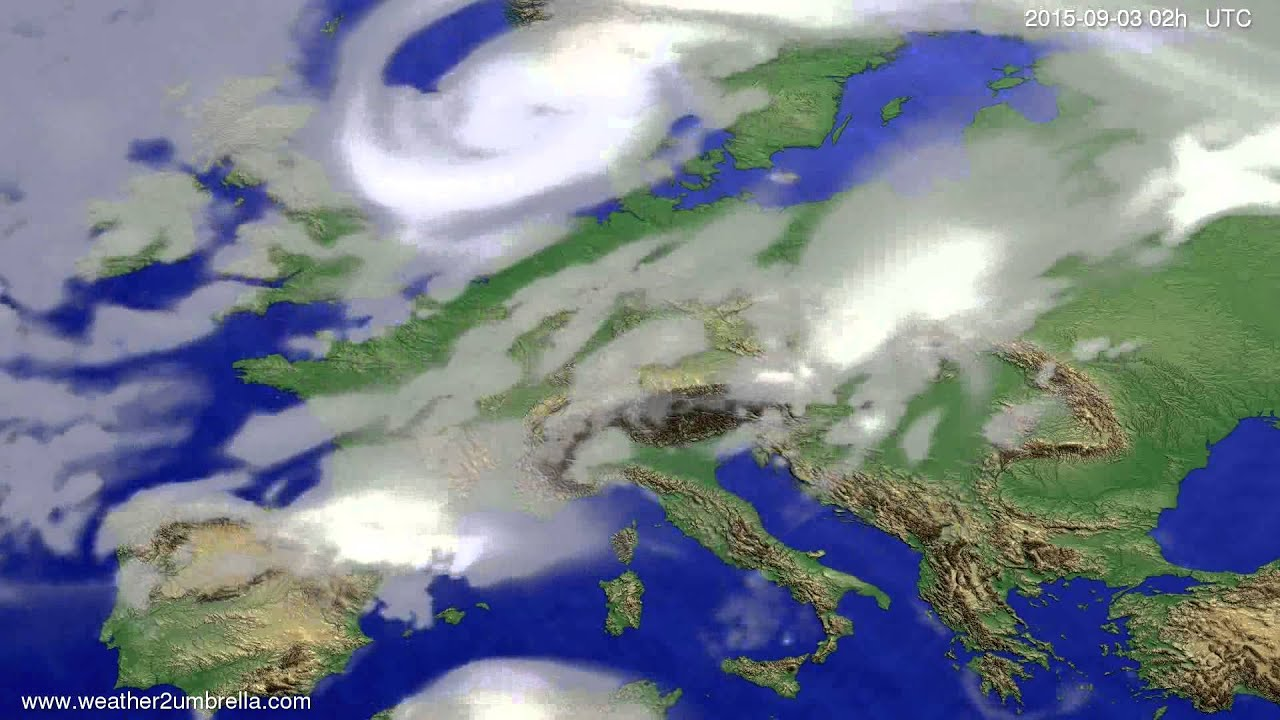 Cloud forecast Europe 2015-08-31