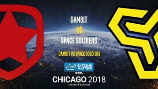 Gambit vs Space Soldiers - IEM Chicago 2018 EU Quals - map3 - de_cache [ceh9, GodMint]