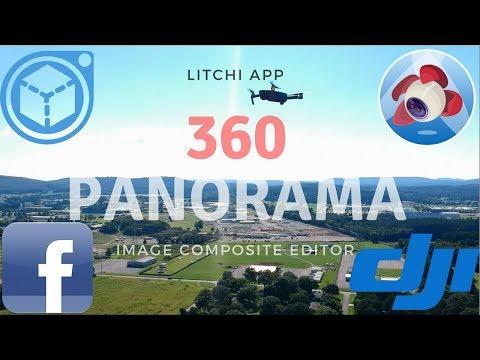 Litchi App -- 360 Panorama with DJI Mavic and Spark -- Image Composite Editor