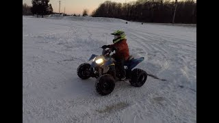 9. POLARIS OUTLAW 90cc winter Riding
