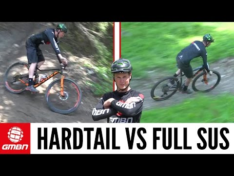 Hardtail Vs. Full Suspension Mountain Bike - What is Faster? (видео)