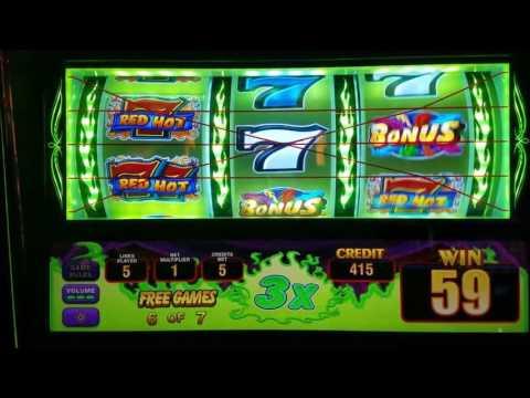 Triple Red Hot Sevens Slot Machine Max Bet Bonus