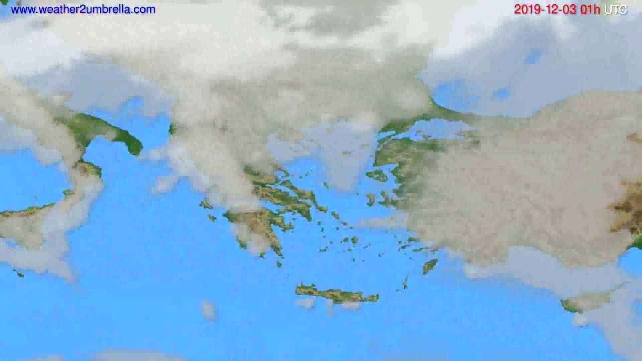 Cloud forecast Greece // modelrun: 00h UTC 2019-12-02