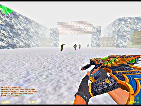 Counter Strike 1.6: Zombie Escape - Jurassicpark Winter [New Year Map]