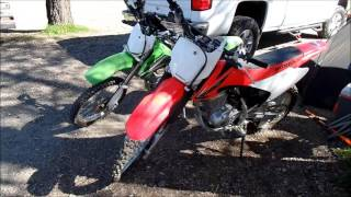 10. Side by Side Comparision CRF150F vs KLX140L