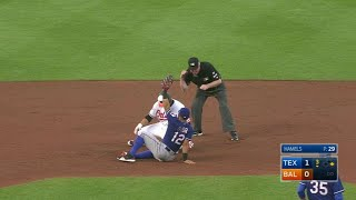 Delino DeShields comes up short on a diving catch, but recovers and makes a strong throw to second to cut down Welington CastilloCheck out http://MLB.com/video for more!About MLB.com: Former Commissioner Allan H. (Bud) Selig announced on January 19, 2000, that the 30 Major League Club owners voted unanimously to centralize all of Baseball's Internet operations into an independent technology company. Major League Baseball Advanced Media (MLBAM) was formed and charged with developing, building and managing the most comprehensive baseball experience available on the Internet. In August 2002, MLB.com streamed the first-ever live full length MLB game over the Internet when the Texas Rangers and New York Yankees faced off at Yankee Stadium. Since that time, millions of baseball fans around the world have subscribed to MLB.TV, the live video streaming product that airs every game in HD to nearly 400 different devices. MLB.com also provides an array of mobile apps for fans to choose from, including At Bat, the highest-grossing iOS sports app of all-time. MLB.com also provides fans with a stable of Club beat reporters and award-winning national columnists, the largest contingent of baseball reporters under one roof, that deliver over 100 original articles every day. MLB.com also offers extensive historical information and footage, online ticket sales, official baseball merchandise, authenticated memorabilia and collectibles and fantasy games.Major League Baseball consists of 30 teams split between the American and National Leagues. The American League consists of the following teams: Baltimore Orioles; Boston Red Sox; Chicago White Sox; Cleveland Indians; Detroit Tigers; Houston Astros; Kansas City Royals; Los Angeles Angels ; Minnesota Twins; New York Yankees; Oakland Athletics; Seattle Mariners; Tampa Bay Rays; Texas Rangers; and Toronto Blue Jays. The National League, originally founded in 1876, consists of the following teams: Arizona Diamondbacks; Atlanta Braves; Chicago Cubs; Cincinnati Reds; Colorado Rockies; Los Angeles Dodgers; Miami Marlins; Milwaukee Brewers; New York Mets; Philadelphia Phillies; Pittsburgh Pirates; San Diego Padres; San Francisco Giants; St. Louis Cardinals; and Washington Nationals.Visit MLB.com: http://mlb.mlb.comSubscribe to MLB.TV: http://mlb.tvDownload MLB.com At Bat: http://mlb.mlb.com/mobile/atbatDownload MLB.com Ballpark: http://mlb.mlb.com/mobile/attheballparkDownload MLB.com Clubhouse: http://mlb.com/clubhousePlay Beat The Streak: http://mlb.mlb.com/btsGet MLB Tickets: http://mlb.mlb.com/ticketsGet Official MLB Merchandise: http://mlb.mlb.com/shopConnect with us:YouTube: http://youtube.com/MLB Facebook: http://facebook.com/mlbInstagram: http://instagram.com/mlbTwitter: http://twitter.com/mlbPinterest: http://pinterest.com/mlbofficialTumblr: http://mlb.tumblr.comGoogle+: http://plus.google.com/+MLB