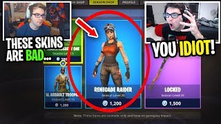 Reacting to me NOT BUYING Renegade Raider in the Item Shop... (so dumb)