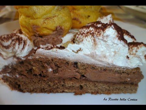 torta al cacao con profiteroles - ricetta