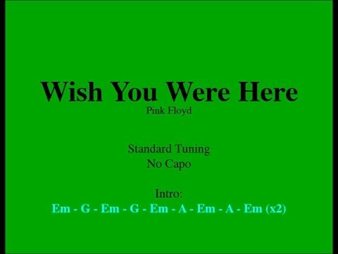 Wish You Were Here – Easy Guitar (Chords and Lyrics)