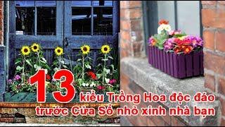 13 kiểu Trồng Hoa độc đáo trước Cửa Sổ nhỏ xinh nhà bạn kiểu Trồng Hoa, Trồng Hoa, chậu trồng hoa, thùng chậu trồng hoa, bồn trồng hoa, cách trồng hoaTheo emdep.vn