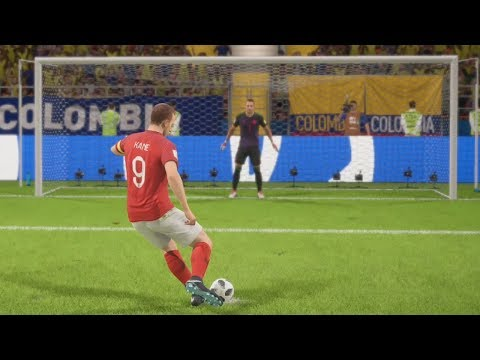 World Cup 2018 England Vs Colombia - Round Of 16 Full Match Sim (FIFA 18 World Cup)