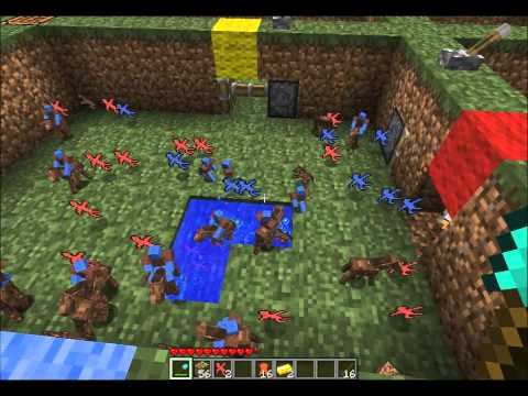 Minecraft: Clay Soldiers Army vs Army