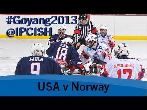 Ice sledge hockey – USA v Norway – 2013 IPC Ice Sledge Hockey World Championships A Pool Goyang