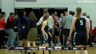 Sad and embarrassing images, a fight during the UNLV vs Utah State of the NCAA Women's Basketball