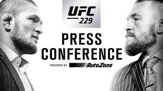 Video UFC 229 Press Conference: Khabib vs McGregor MP3, 3GP, MP4, WEBM, AVI, FLV Desember 2018