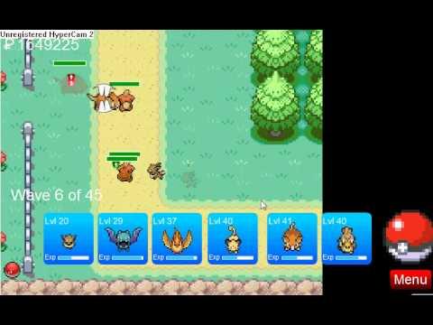 Pokemon tower defense Eevee Route 8