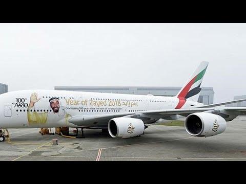 العرب اليوم - شاهد: طلبية إماراتية تنفذ واحدة من أكبر الطائرات في العالم