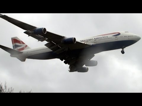 Windy Landings Strong Crosswind 37 knots London Heathrow HD
