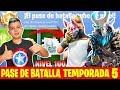 COMPRO PASE DE BATALLA A NIVEL100 EN FORTNITE!!!temporada 5