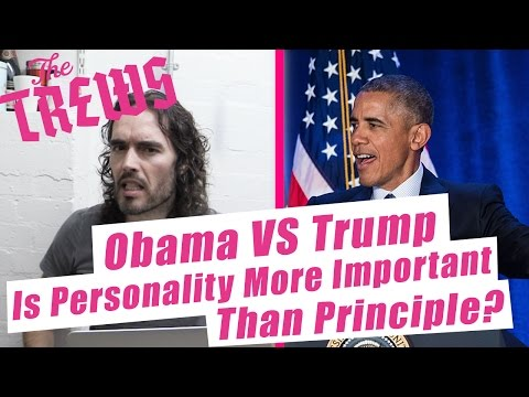 Obama Vs Trump - Is Personality More Important Than Principle? Russell Brand The Trews (E390) (видео)