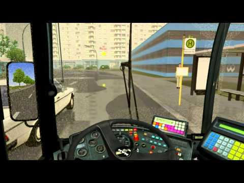 OMSI Der Bus Simulator- Line 92 Heerstr. Stadtgrenze - Seeckstr. in the rain!(Full HD)